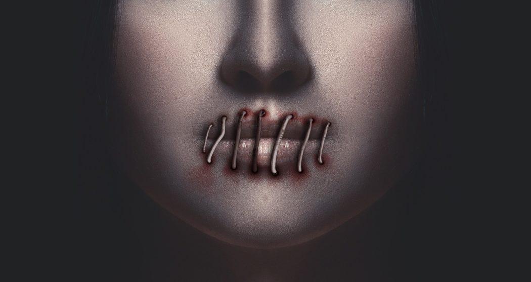 zwijgen-vrouw-lippen