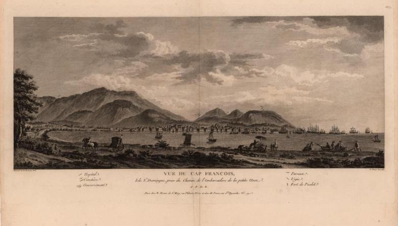 'Zicht op Cap Français, Saint-Domingue, 1791 (John Carter Brown Library)'