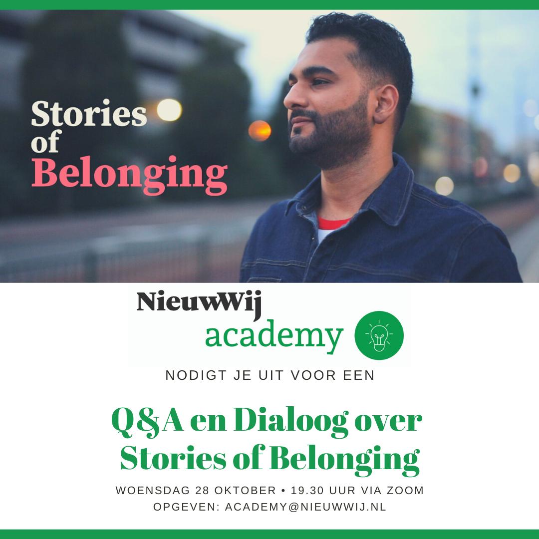 Uitnodiging dialoog nav Stories of Belonging