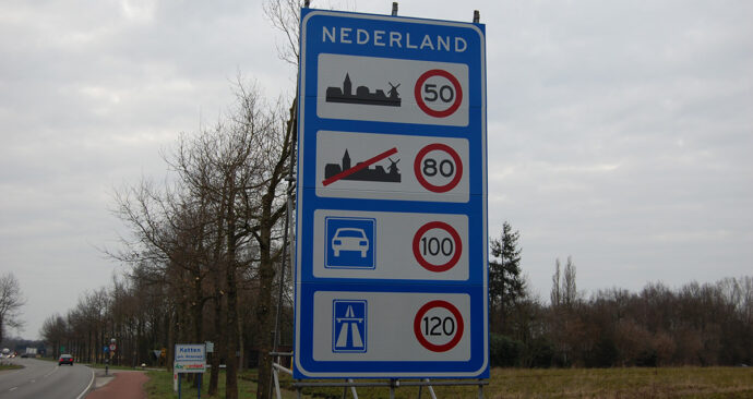 Grens-bord-Nederland
